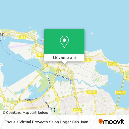 Mapa de Escuela Virtual Proyecto Salón Hogar