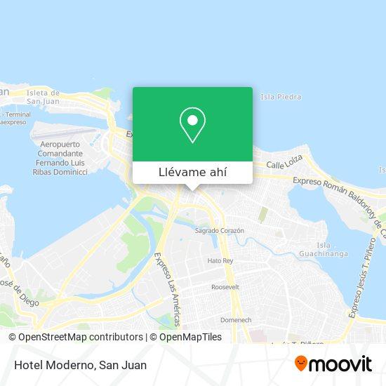 Mapa de Hotel Moderno