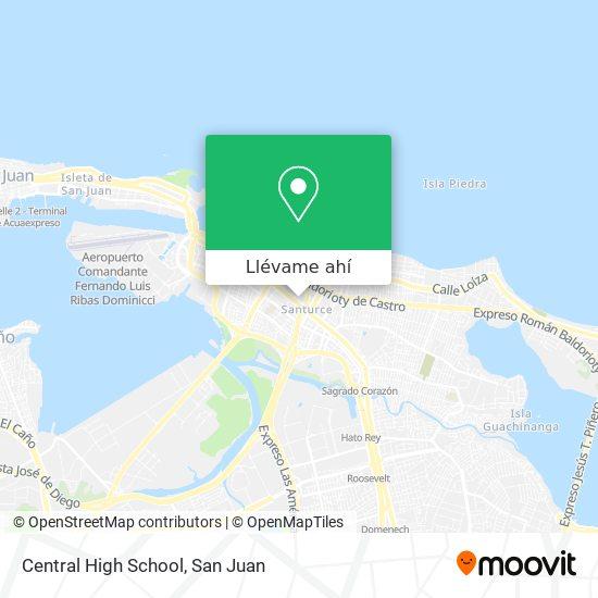 Mapa de Central High School