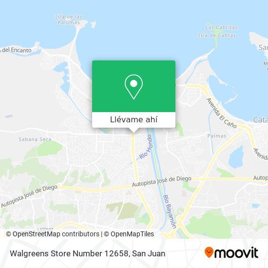 Mapa de Walgreens Store Number 12658