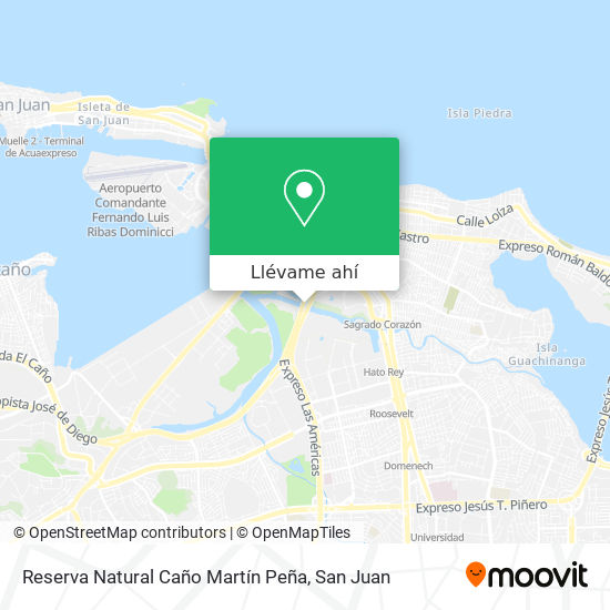 Mapa de Reserva Natural Caño Martín Peña