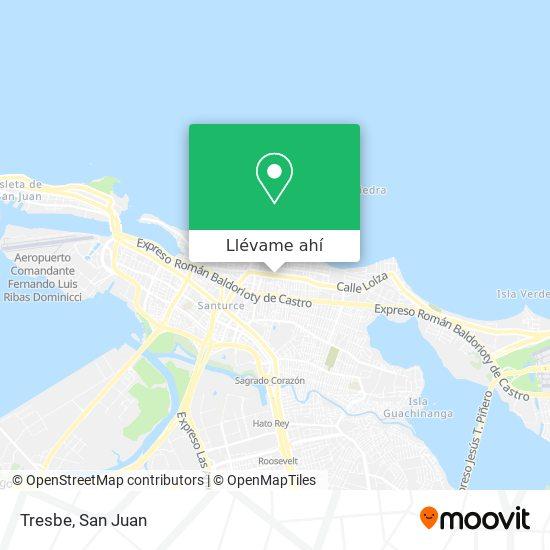 Mapa de Tresbe