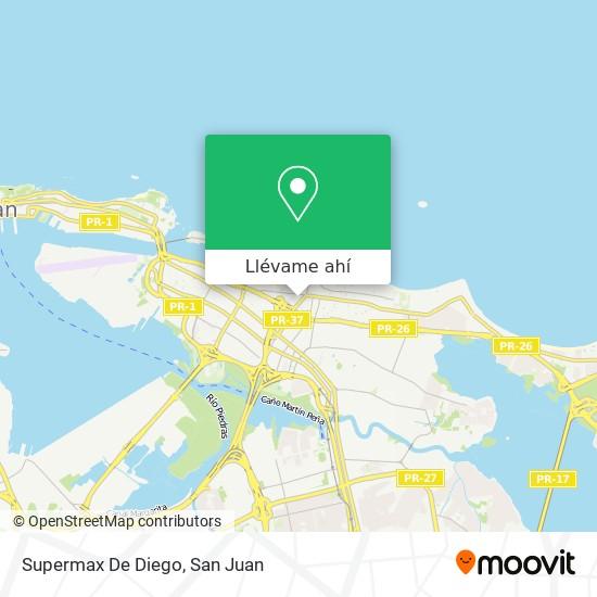 Mapa de Supermax De Diego