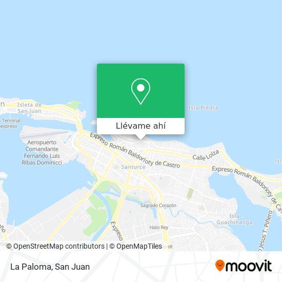 Mapa de La Paloma