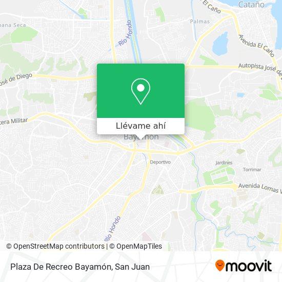 Mapa de Plaza De Recreo Bayamón