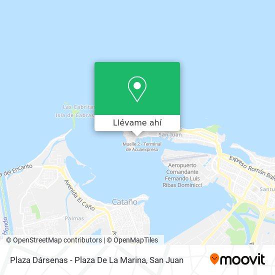 Mapa de Plaza Dársenas - Plaza De La Marina
