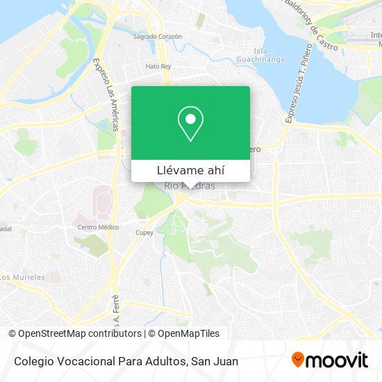 Mapa de Colegio Vocacional Para Adultos