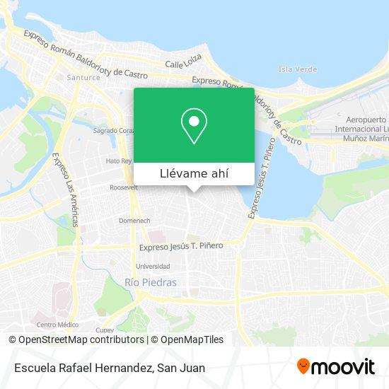 Mapa de Escuela Rafael Hernandez