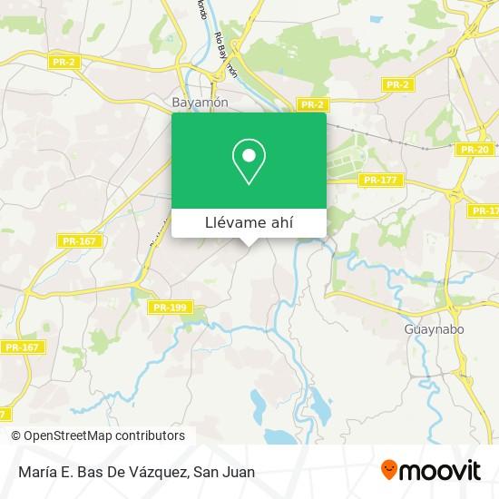 Mapa de María E. Bas De Vázquez