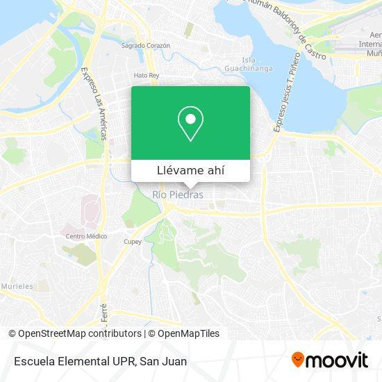 Mapa de Escuela Elemental UPR