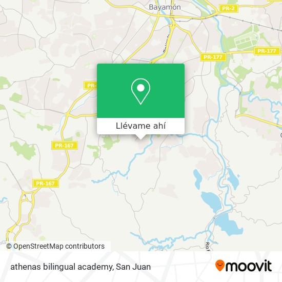 Mapa de athenas bilingual academy