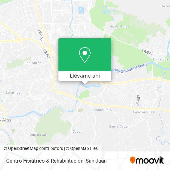 Mapa de Centro Fisiátrico & Rehabilitación