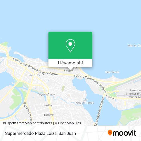 Mapa de Supermercado Plaza Loiza