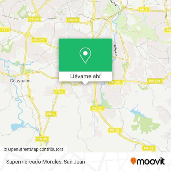 Mapa de Supermercado Morales