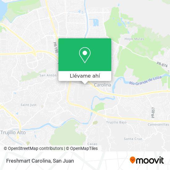 Mapa de Freshmart Carolina