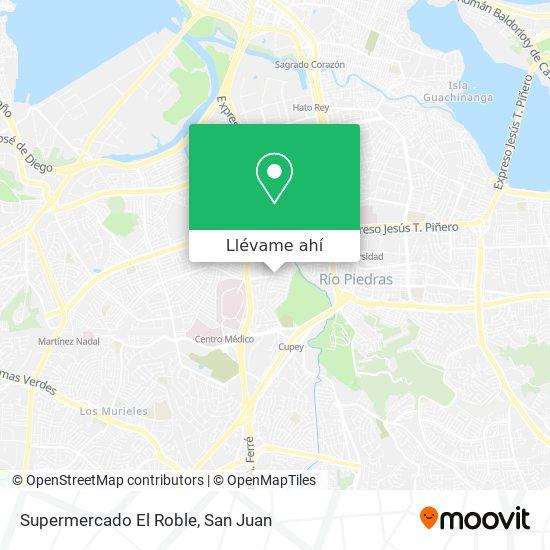Mapa de Supermercado El Roble
