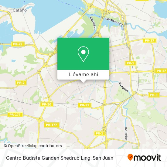 Mapa de Centro Budista Ganden  Shedrub Ling