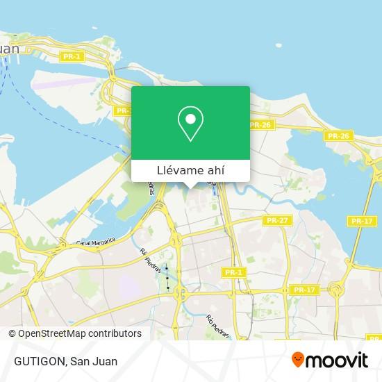 Mapa de GUTIGON