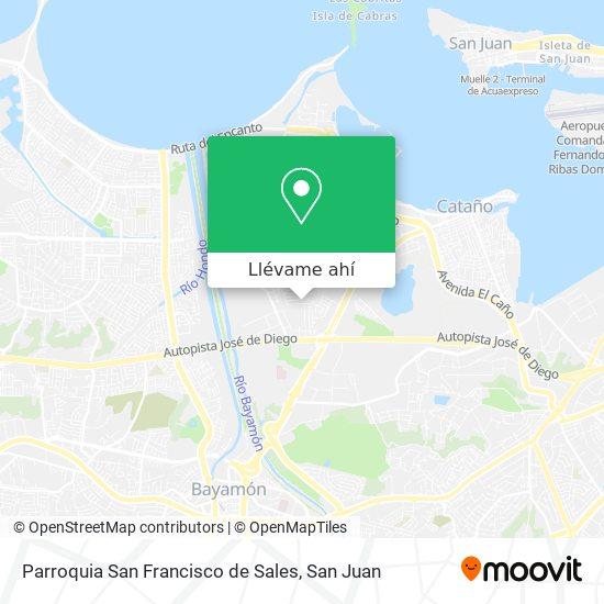 Mapa de Parroquia San Francisco de Sales