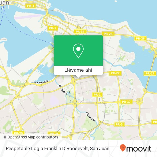Mapa de Respetable Logia Franklin D Roosevelt