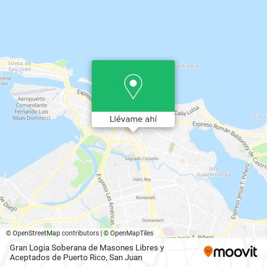Mapa de Gran Logia Soberana de Masones Libres y Aceptados de Puerto Rico