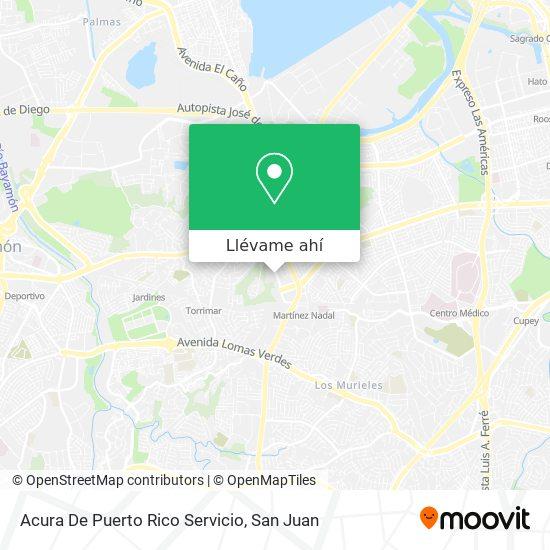 Mapa de Acura De Puerto Rico Servicio