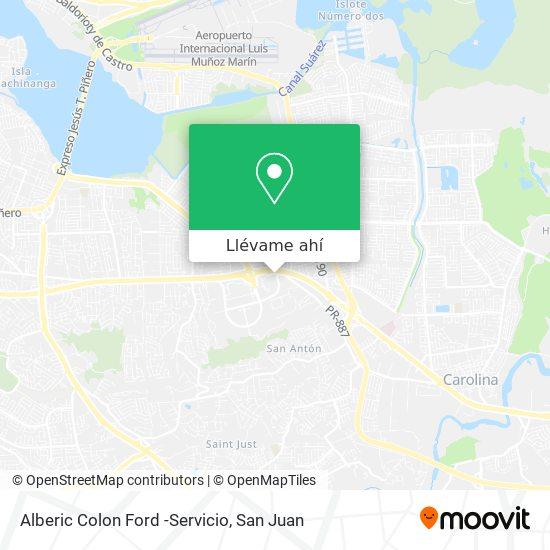 Mapa de Alberic Colon Ford -Servicio