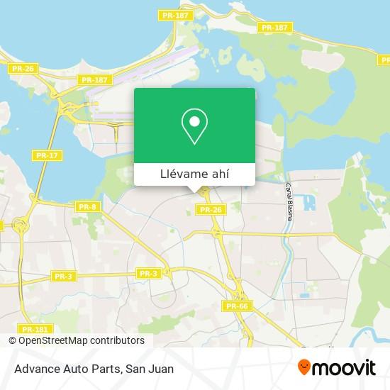 Mapa de Advance Auto Parts