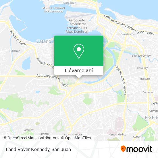 Mapa de Land Rover Kennedy