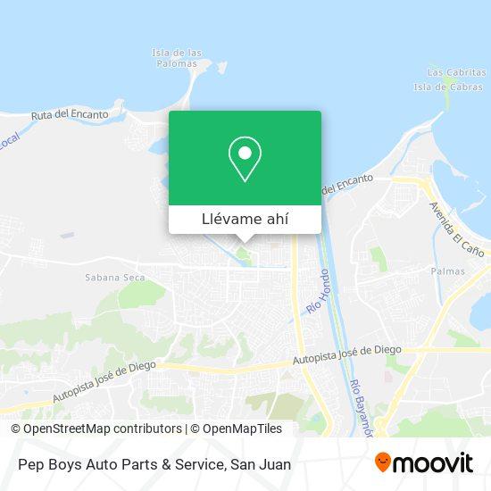 Mapa de Pep Boys Auto Parts & Service