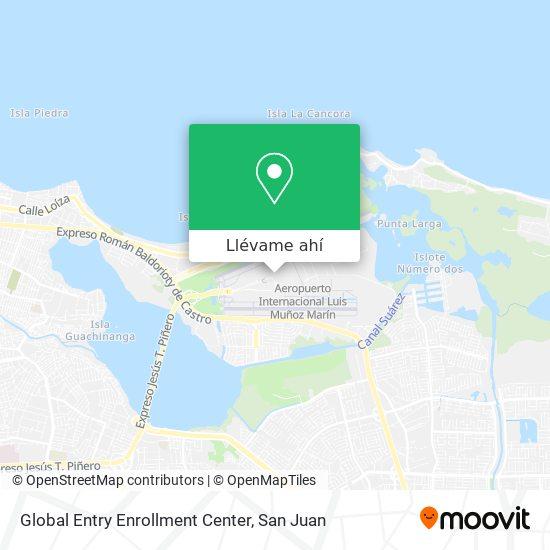 Mapa de Global Entry Enrollment Center