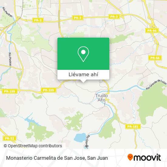 Mapa de Monasterio Carmelita de San Jose