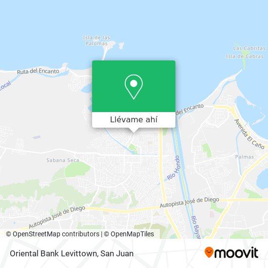 Mapa de Oriental Bank Levittown