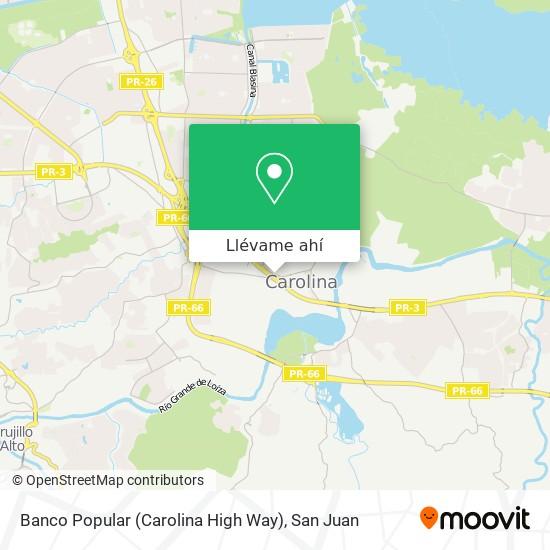 Mapa de Banco Popular (Carolina High Way)