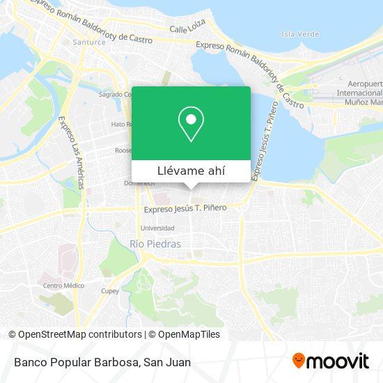 Mapa de Banco Popular Barbosa