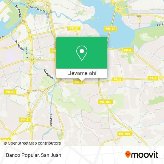 Mapa de Banco Popular