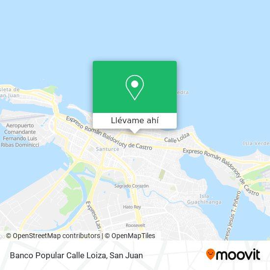 Mapa de Banco Popular Calle Loiza