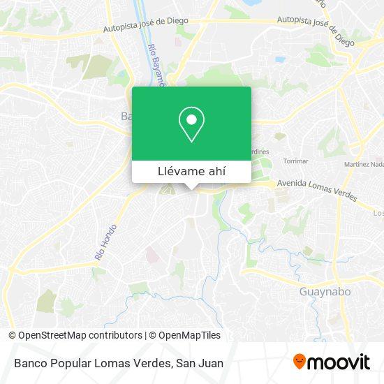 Mapa de Banco Popular Lomas Verdes
