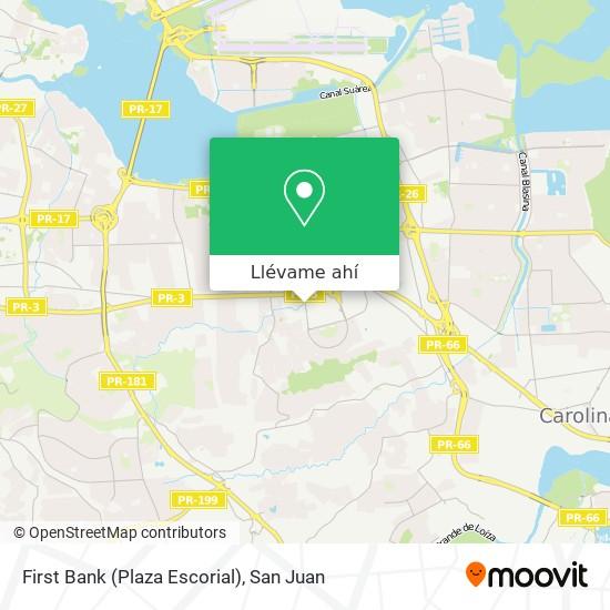 Mapa de First Bank (Plaza Escorial)