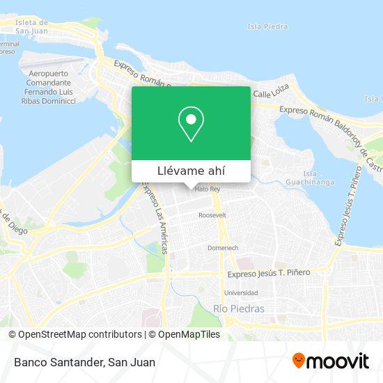 Mapa de Banco Santander