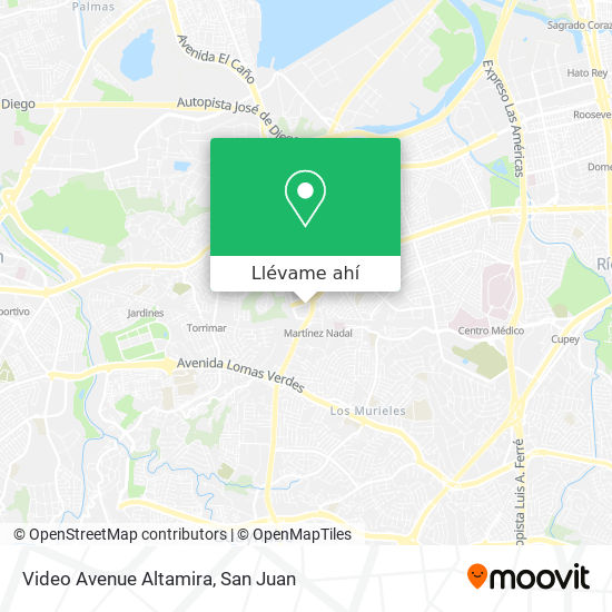Mapa de Video Avenue Altamira