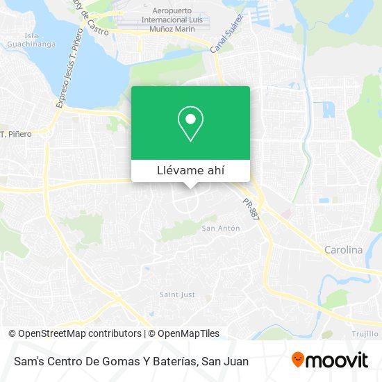 Mapa de Sam's Centro De Gomas Y Baterías