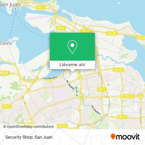 Mapa de Security Shop