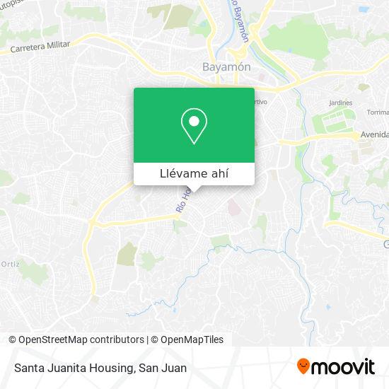 Mapa de Santa Juanita Housing