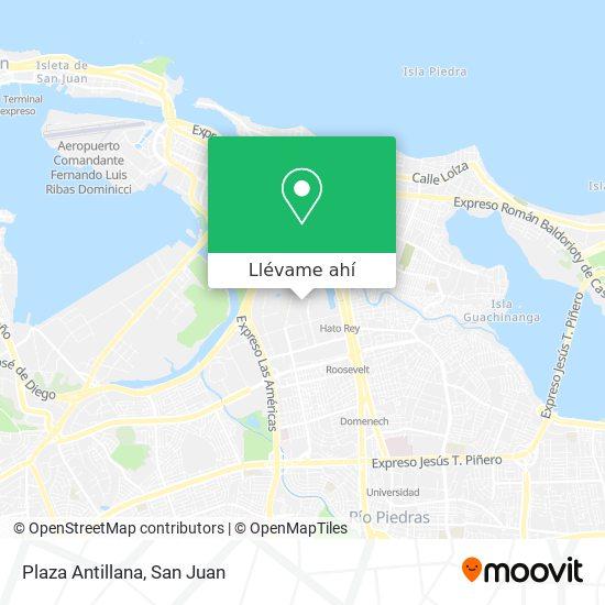 Mapa de Plaza Antillana