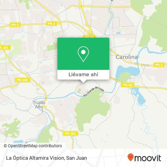 Mapa de La Óptica  Altamira Vision