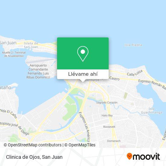 Mapa de Clinica de Ojos