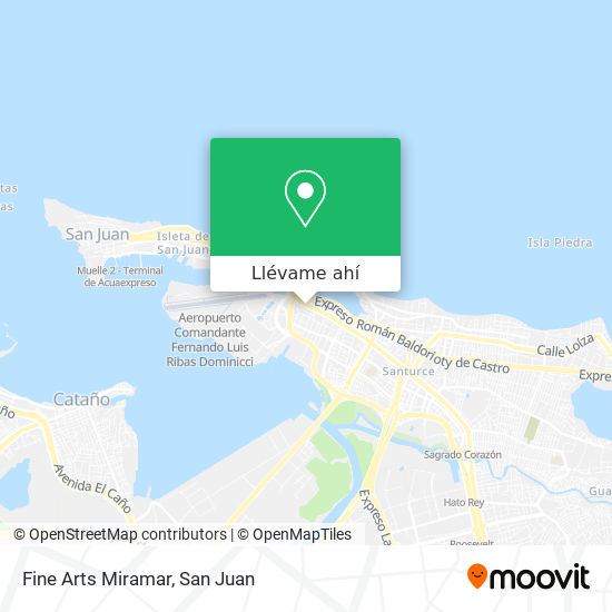Mapa de Fine Arts Miramar