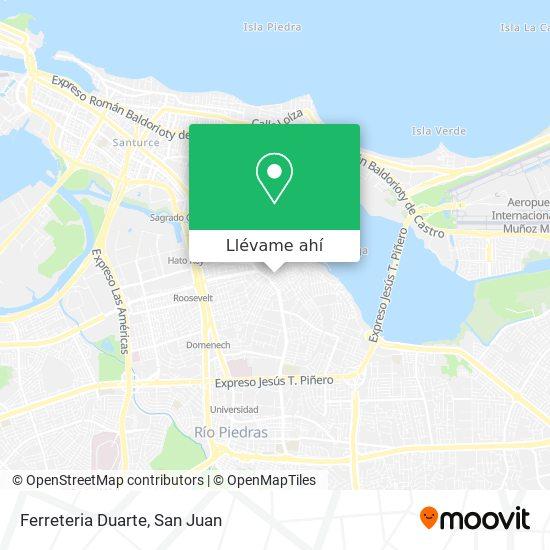 Mapa de Ferreteria Duarte