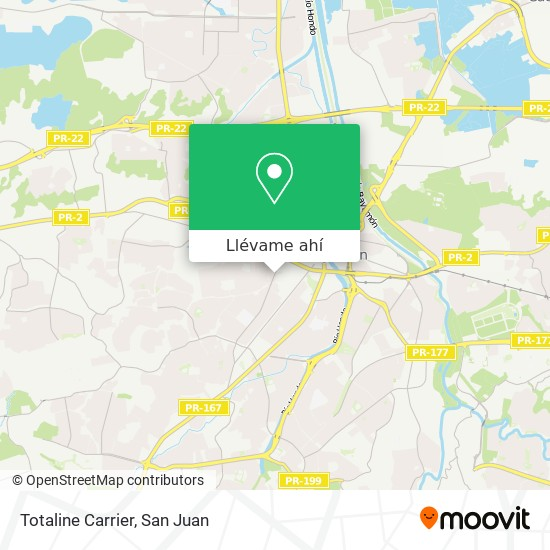 Mapa de Totaline Carrier